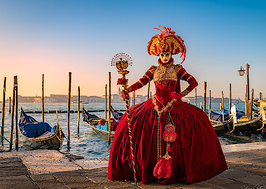 Photography workshop at the Venice Carnival